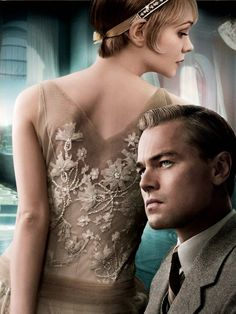 """Carey Mulligan and Leonardo DiCaprio portray the characters of Daisy Buchanan and Jay Gatsby respectively in the Baz Luhrmann adaptation of """"The Great Gatsby""""........"""