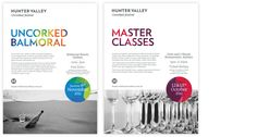 Vibrant colors and minimal layouts for the Hunter Valley design by Strategy