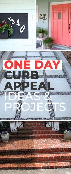 One Day Curb Appeal Ideas & Projects! • See how easily you can make your home more attractive with these Curb Appeal diy projects and tutorials! #curbappeal #DIYcurbappeal #curbappealideas #curbappealonabudget #curbappealprojects #DIYcurbappealprojects #DIYhomedecor