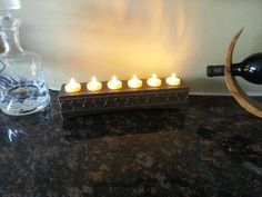 Votives recharging in beautiful base unit. Available on QVC in the US during the 6 p.m. show on 1/30/13.