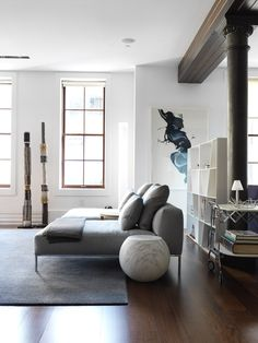 Nexus | Tribeca Loft Apartment | Est Magazine featuring the B&B Italia Shelf X by Naoto Fukasawa