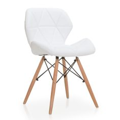 Modelo inspirado pela Cadeira DSW de Charles & Ray Eames.     Design de pés TOWER, baseado na Torre Eiffel.     Forrada em couro sintético branco ou preto.     Original forma de assento e encosto de alto conforto.  A Cadeira TOWER PENTAGONE é uma interpretação de um dos modelos mais populares do design de vanguarda do século passado: a cadeira DSW desenhado por Charles & Ray Eames. É, portanto, uma cadeira de design moderno, com assento e encosto estofados em couro sintético branco ou pr...