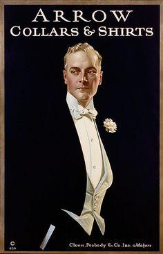 """Arrow Collars & Shirts"" Original Advertising, Graphic and Illustration of Men's Fashion, (ca. - Illustration by Joseph Christian Leyendecker (b. 1874 - d."