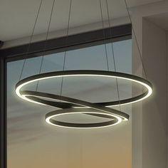 Vonn Lighting Tania Trio 32-inches LED Adjustable Hanging Light Modern Circular Chandelier Lighting in Black | Overstock.com Shopping - The Best Deals on Chandeliers & Pendants - http://centophobe.com/vonn-lighting-tania-trio-32-inches-led-adjustable-hanging-light-modern-circular-chandelier-lighting-in-black-overstock-com-shopping-the-best-deals-on-chandeliers-pendants/ -