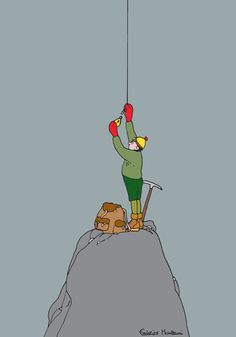 Lightbulb Mountain Climber by Federico Monzani
