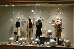 new year window celebration  let's do silver baubles this Christmas girls?, pinned  by Ton van der Veer