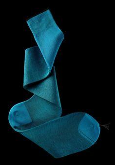 William Abraham - Luxury Socks for Men ● TURQUOISE / BLACK