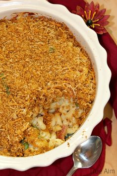 Baked Macaroni Casserole with a Crispy Bacon Crust! - this crust is amazing!