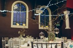 Nighttime wedding reception | Winter weddings | Wedding decorations ideas | Wedding photographer London