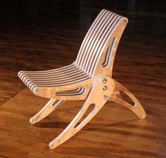 Folding Deck Chair  by Trevoroneil on Etsy