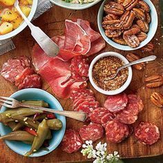 Easy Summer Appetizer Board | No Southern appetizer board is complete without spicy-sweet pickled okra. | #Recipes | SouthernLiving.com