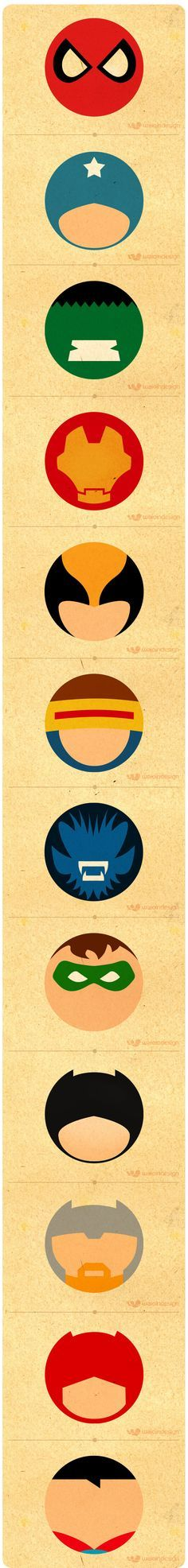 Super Heróis - Minimalismo by Waio , via Behance