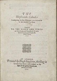 The Shepheardes Calender - Wikipedia, the free encyclopedia