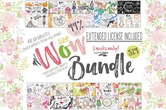 Wow Bundle 99% off Spring Sale by Tanya Kart on @creativemarket