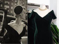 Vintage Velvet, 1950s Fashion, Green Velvet, Green Dress, Vintage Dresses, Style, Vintage Gowns, Swag, Green Gown