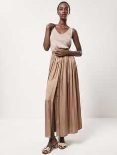 LONG FLOWING SKIRT - null - Massimo Dutti