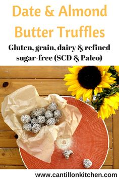 Date & Almond Butter Truffles - Truffle Butter, Almond Butter, Vegan Vegetarian, Paleo, Something Sweet, Food Preparation, Truffles, Cravings, Gluten