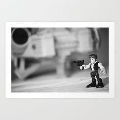 Han+Solo+&+the+Millennium+Falcon+Art+Print+by+Macmillen+Photography+-+$38.48