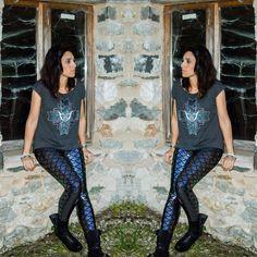 2015 new women's Fashion Slim Black Milk printed Mermaid leggings nine women pants Plus Size Legging K005 FREE SHIPPING-in Leggings from Women's Clothing & Accessories on Aliexpress.com | Alibaba Group
