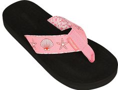 Women's Tidewater Boardwalk Flip Flop Sandals,10 B(M) US,Pink Shells *** Want additional info? Click on the image.