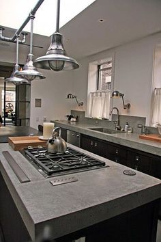Kitchen Concrete Countertops More