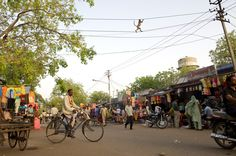 Electric Avenue How did the monkey cross the road? By performing a high voltage wire routine. Gregg Bleakney caught the primate's act while in Bundi, India. This image is included in the World in Focus 2011 online gallery. The 2012 Contest is currently open for entries until September 8, but enter today to avoid late fees. A People's Choice winner will also be selected.