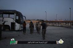 Nour Al-Din Al-Zenki movement @ #Ramouseh garage in SW #Aleppo 🇸🇾