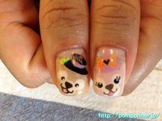 ディズニーバージョンのハロウィンネイル(親指) Halloween Nail Disney version (thumb)