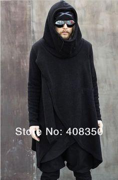 street goth assymetric style hoodie sweatshirt urban