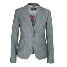LORO PIANA $2160 womens gray wool mohair fitted blazer sportcoat jacket 44/8 NEW
