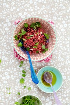 {Quinoa Salad with Beets, Purple Cauliflower, and Mache} :: Cannelle et Vanille