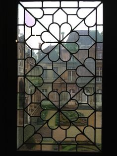 Gorgeous Stained Glass Window in the Musee Carnavalet, Paris.