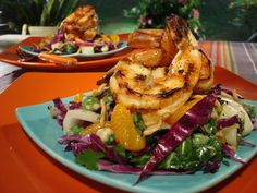 Grilled Thai Chile Garlic Shrimp recipe from Grill It! with Bobby Flay via Food Network
