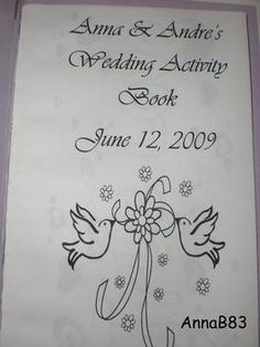 How to make a kids activity book for weddings.