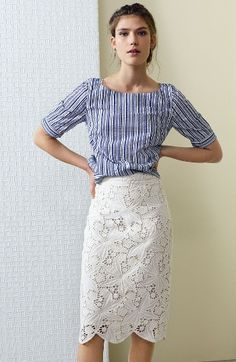 Halogen® Top & Skirt Outfit with Accessories available at #Nordstrom