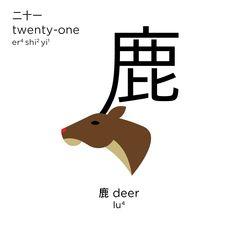 """鹿, which is Chinese for """"deer"""""""