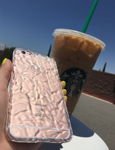 Back to iced drinks  with the Clear Crystalline Case on Rose Gold. Available for iPhone 6/6s & 6 Plus/6s Plus