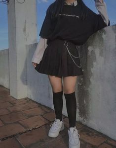 Best Models of Skirts for Teens to Look Fashionable - Ulzzang Fashion - Indie Outfits, Teen Fashion Outfits, Edgy Outfits, Korean Outfits, Retro Outfits, Cute Casual Outfits, Rock Outfits, Goth Girl Outfits, Cute Grunge Outfits