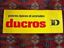 PLAQUE sérigraphiée DUCROS POIVRE EPICES AROMATES  1975