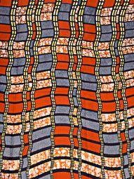 Nigerian Fabrics For Buying Real Wax Orange Navy Blue Pattern Church rw906736