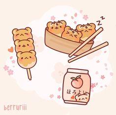 Cute Food Drawings, Cute Little Drawings, Cute Cartoon Drawings, Cute Kawaii Drawings, Cool Art Drawings, Cartoon Art Styles, Kawaii Art, Sanrio Wallpaper, Cute Pastel Wallpaper