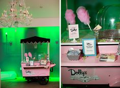 Dolly's Cotton Candy Cart-need we say more?! #weddings #desserts