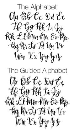 The perfect fauxligraphy guide, a perfect replacement for calligraphy.