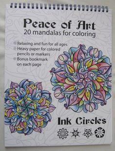 Peace of Art Mandalas Adult Coloring Book Ink Circles Tracy Horner