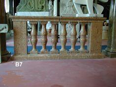 Balaustra in Marmo rosso Asiago - http://achillegrassi.dev.telemar.net/project/balaustra-in-marmo-rosso-asiago-2/ - Balaustra in Marmo rosso Asiago lucido H totale 85cm costituita da:  base e copertina sagomate sez. 30×10 cm balaustri a due pance 65x15x15 cm pilastri lisci 65x25x20 cm