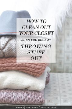 Winter is finally over and that means it's time for...Spring cleaning! Follow my simple tips to clean out and declutter your closet in today's post.