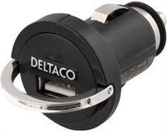 DELTACO strømadapter fra cig-uttak. 12~24V til 1x USB 5V 1,2A, svart | Satelittservice tilbyr bla. HDTV, DVD, hjemmekino, parabol, data, satelittutstyr Beats Headphones, Over Ear Headphones, Usb, In Ear Headphones