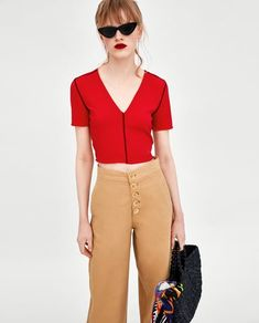 Image 2 of CROPPED T-SHIRT from Zara