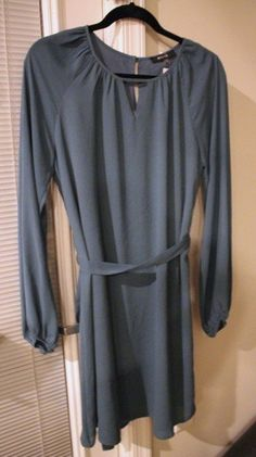 Kia Keyhole Bishop Sleeve Dress