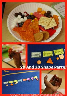 Throw a shape party with 2D and 3D shapes! Sorting, classifying and identifying shapes! And you can eat!